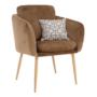Kép 12/13 - AVETA Dizájner fotel,  barna Velvet szövet