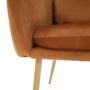 Kép 7/12 - AVETA Dizájner fotel,  terrakotta Velvet szövet