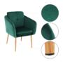 Kép 2/15 - AVETA Dizájner fotel,  smaragd Velvet szövet
