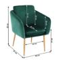 Kép 4/15 - AVETA Dizájner fotel,  smaragd Velvet szövet