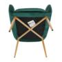 Kép 5/15 - AVETA Dizájner fotel,  smaragd Velvet szövet