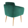Kép 6/15 - AVETA Dizájner fotel,  smaragd Velvet szövet