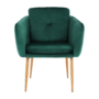 Kép 9/15 - AVETA Dizájner fotel,  smaragd Velvet szövet