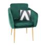 Kép 10/15 - AVETA Dizájner fotel,  smaragd Velvet szövet