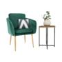 Kép 11/15 - AVETA Dizájner fotel,  smaragd Velvet szövet