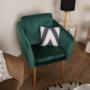 Kép 13/15 - AVETA Dizájner fotel,  smaragd Velvet szövet