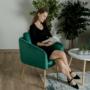 Kép 15/15 - AVETA Dizájner fotel,  smaragd Velvet szövet