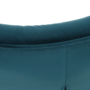 Kép 5/9 - MARLOV Dizájn fotel,  petróleum Velvet szövet/króm
