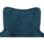 Kép 8/9 - MARLOV Dizájn fotel,  petróleum Velvet szövet/króm