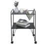 Kép 4/5 - KORETE Mozgatható kisasztal - többfunkciós - fém/műanyag,  fekete