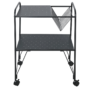 Kép 5/5 - KORETE Mozgatható kisasztal - többfunkciós - fém/műanyag,  fekete