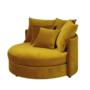 Kép 3/4 - SALOTO Kerek fotel,  Velvet szövet sárga