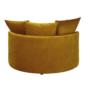 Kép 4/4 - SALOTO Kerek fotel,  Velvet szövet sárga
