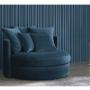 Kép 3/6 - SALOTO Kerek fotel,  Velvet szövet petróleum zöld
