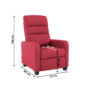 Kép 2/2 - TURNER Relaxáló fotel,  málna