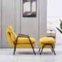 Kép 4/4 - BANDER Fotel lábtartóval,  sárga/fekete fém