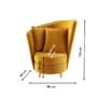 Kép 2/3 - ROUND Fotel Art Deco stílusban,  mustár színű Riviera szövet/tölgy [NEW]