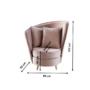 Kép 2/3 - ROUND Fotel Art Deco stílusban,  rózsaszín Kronos szövet/tölgy [NEW]