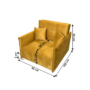 Kép 5/5 - ALANA Kinyitható fotel,  mustár színű szövet Riviera