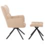 Kép 3/3 - KOMODO Dizájnos forgó fotel lábtartóval,  bézs/fekete [TYP 2]
