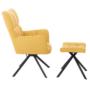 Kép 3/3 - KOMODO Dizájnos forgó fotel lábtartóval,  sárga/fekete [TYP 2]